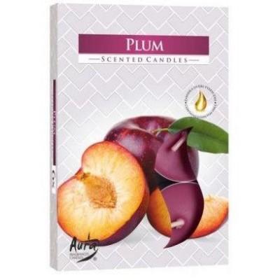 Bispol Aura čajové svíčky - Sweet Fig 6 ks