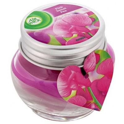 Air Wick Essential Oils svíčka - Růžové květy středomoří 30 g