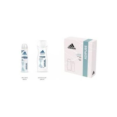 Adidas Adipure Woman deospray 150 ml + sprchový gel 250 ml (dárková sada)