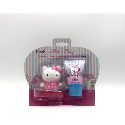 Kids Hello Kitty sprchový gel 30 ml + mýdlo jahodové 50 mg (dárková sada)