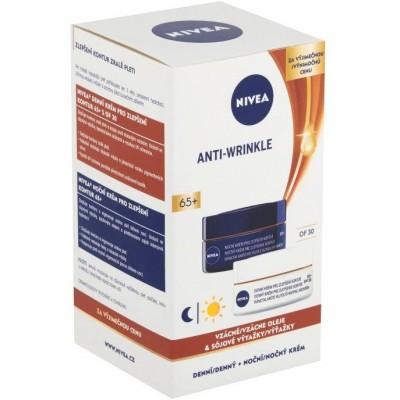 Nivea Anti-Wrinkle Contouring 65+ denní a noční krém pro zlepšení kontur, 2 × 50 ml (dárková sada)