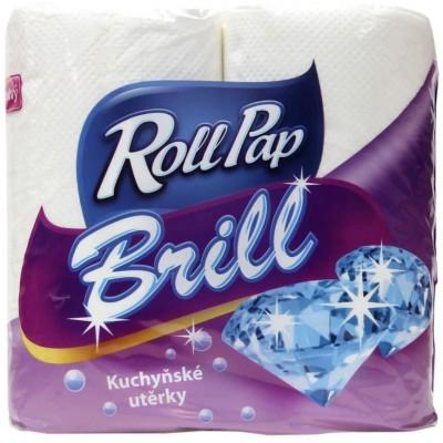 RollPap Kuchyňské utěrky Brill 2-vrstvé, 14m, 2 role