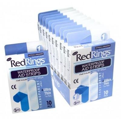 Red Rings Náplast waterproof-modrá 10 ks