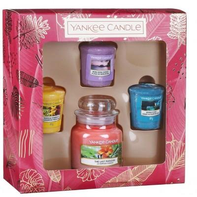 Yankee candle dárková sada malý classic + 3 votivní svíčky