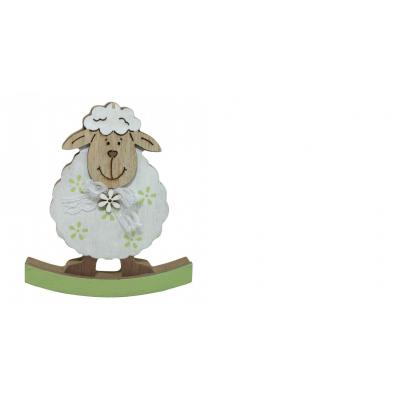 Dekorace ovečka houpací 12,5 cm