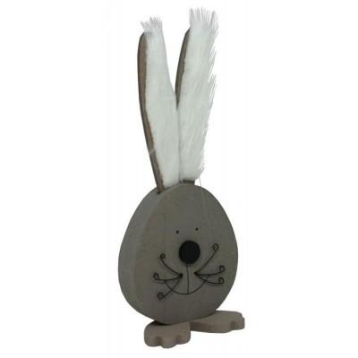 Dekorace zajíc s plyšem hnědý