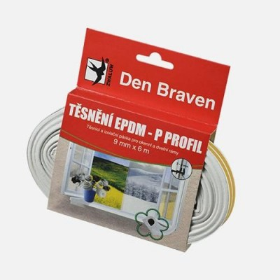 Den Braven D Profil těsnění EPDM bílé 9mm x 6m