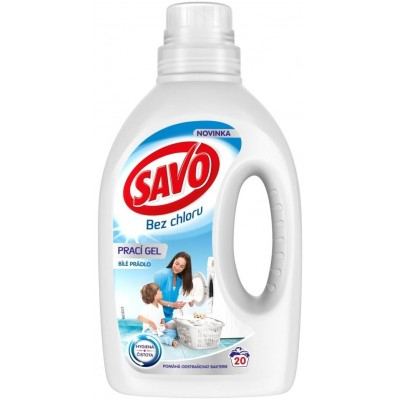 SAVO Prací Gel na Bílé Prádlo 1 l